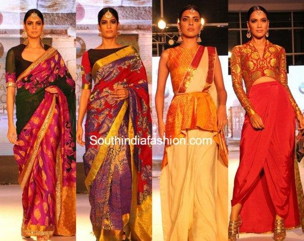 neeta_lulla_kanjeevaram_sarees_bmw_india_bridal_fashion_week