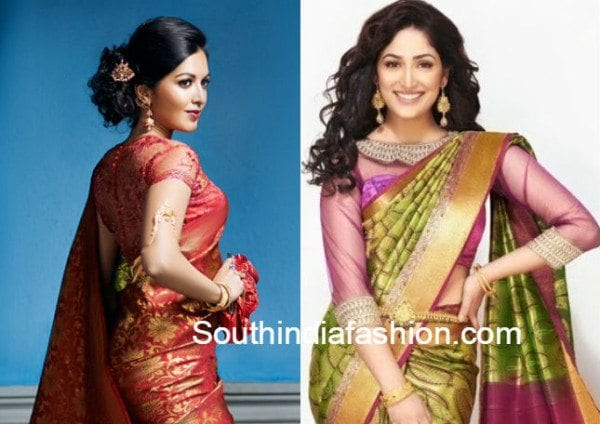 net_blouse_with_silk_sarees