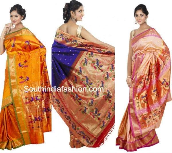peacock_design_paithani_sarees