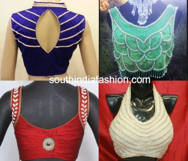 pearl work blouses