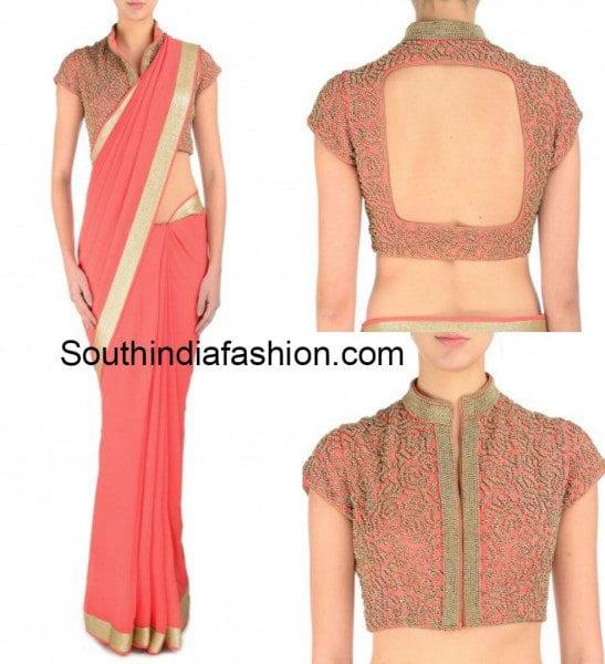 plain_saree_with_designer_blouse