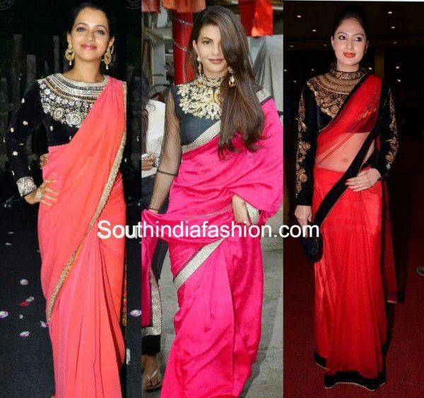 plain_saree_with_maharani_blouse