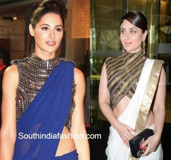 plain_saree_with_metallic_blouse