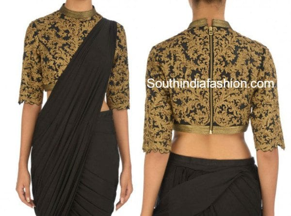 plain_sarees_with_designer_blouse