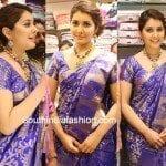 Raashi Khanna in Blue Pattu Saree