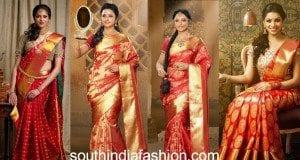 red bridal silk sarees