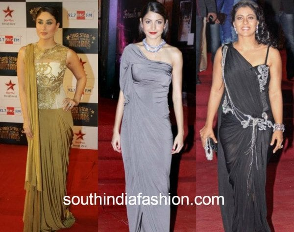 saree gown collage 4