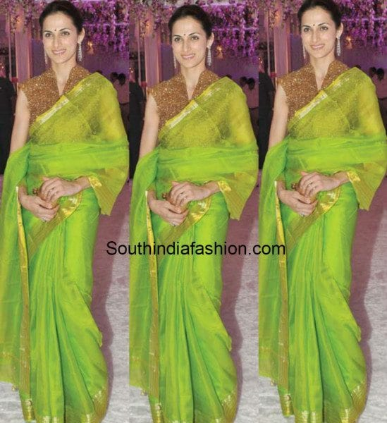 shilpa_reddy_silk_saree_with_sequins_blouse