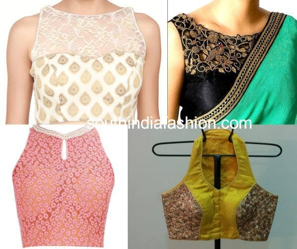 sleeveless blouse designs collage 2