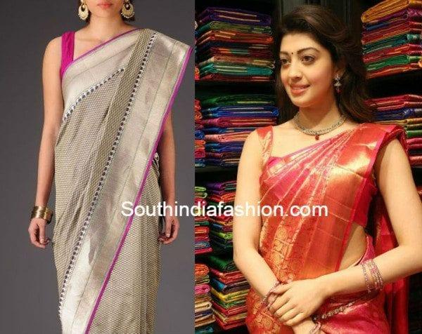 sleeveless_blouse_with_silk_kanjeevaram_sarees