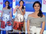 Alia Bhatt in Chic wish printed dress