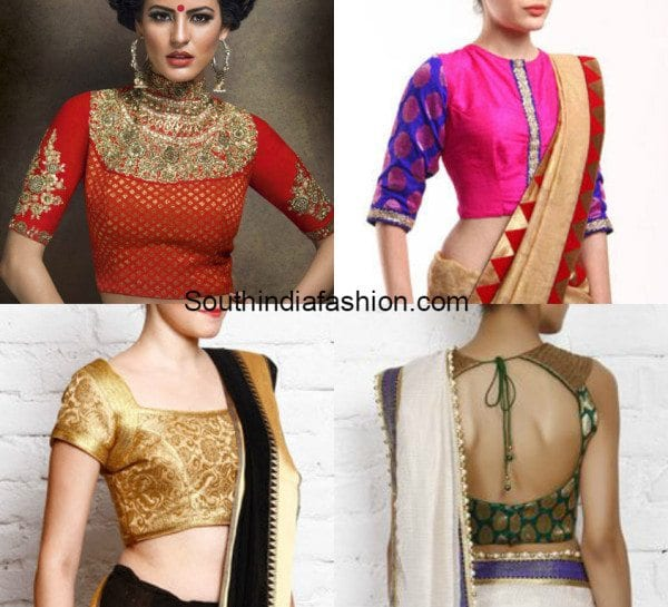 Brocade Blouses With Work