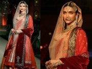 Deepika Padukone in Anju Modi at Bajirao Mastani fashion show