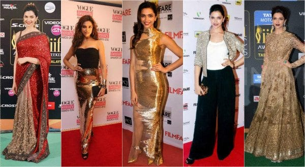 Deepika padukone in sequins outfits