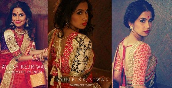 ayush kejriwal blouse designs