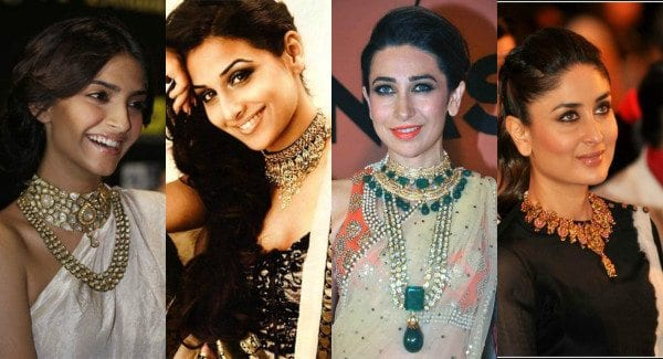 bollywood celebrities wearing statement necklaces
