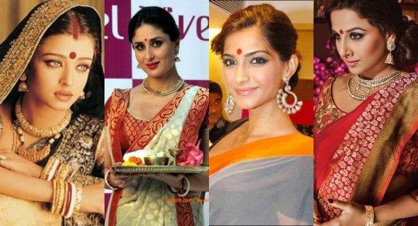 bollywood celebrities wearing bindis