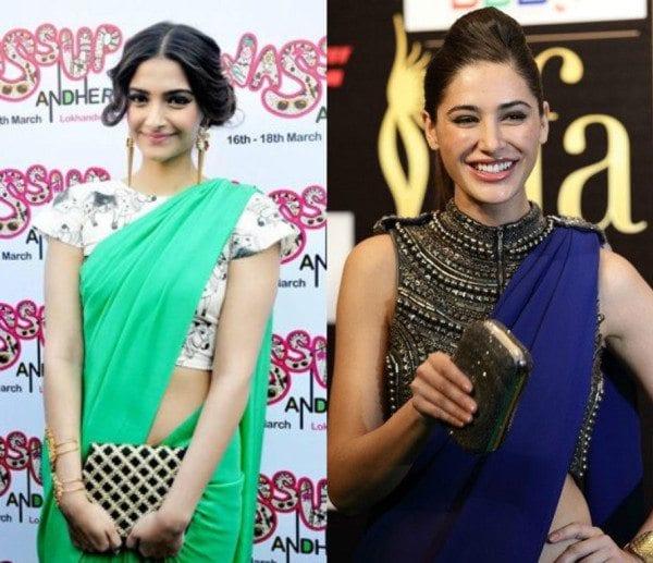 crop top with sarees