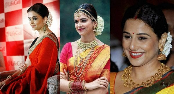 bollywood celebrities wearing mogra flowers