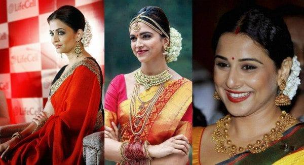 bollywood celebrities wearing mogra flowers