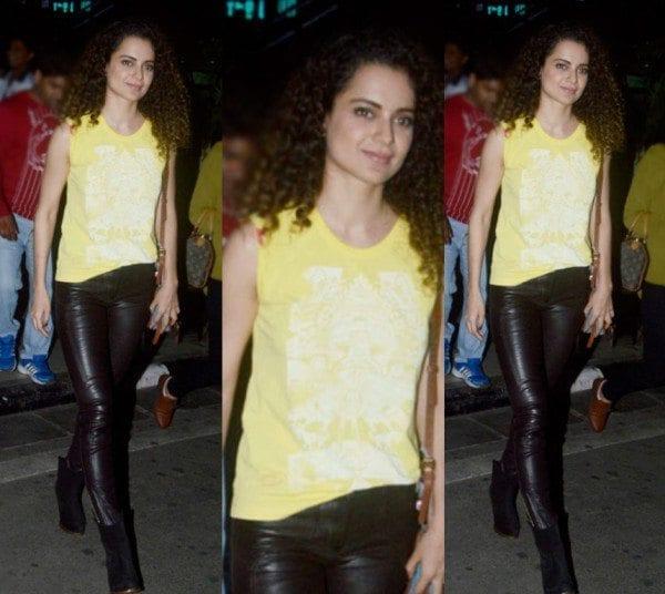 Kangana Ranaut in leather pants