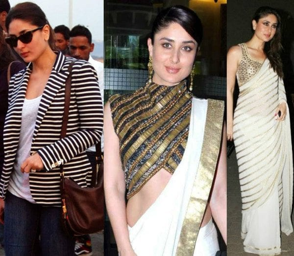 Kareena Kapoor in Striped Outfits