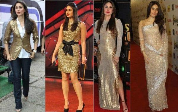 Kareena Kapoor in sequins outfits