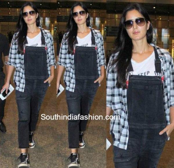 Katrina Kaif in overalls at airport
