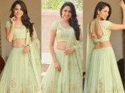 Pragya Jaiswal in mint green lehenga