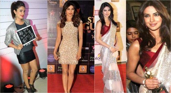 Priyanka Chopra in sequins outfits