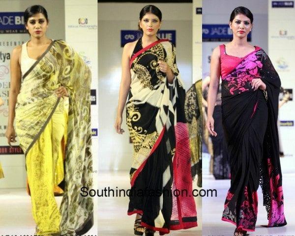 Satya Paul sarees at the Hyd fashion week