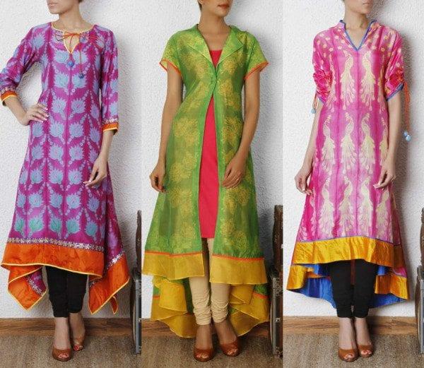 Sibori Dyed Silk Kurtas