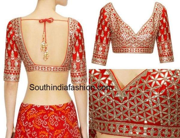 Gota Patti Work Blouse South India Fashion