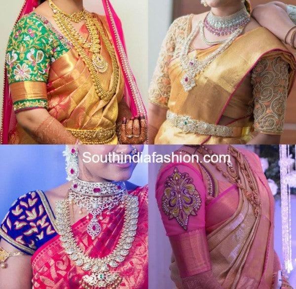 Gorgeous Blouse Designs For Wedding Silk Sarees