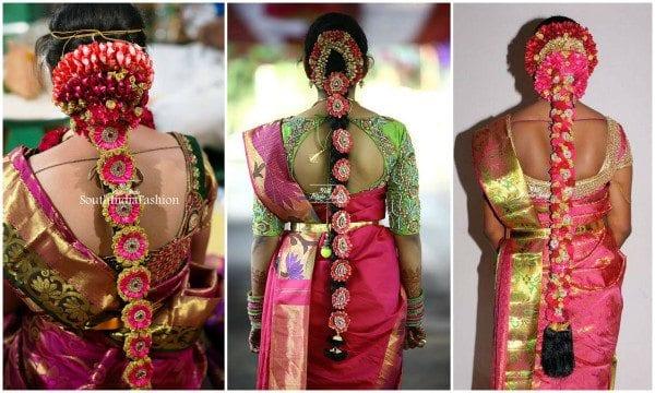pink_kanjeevaram_sarees_hairstyle