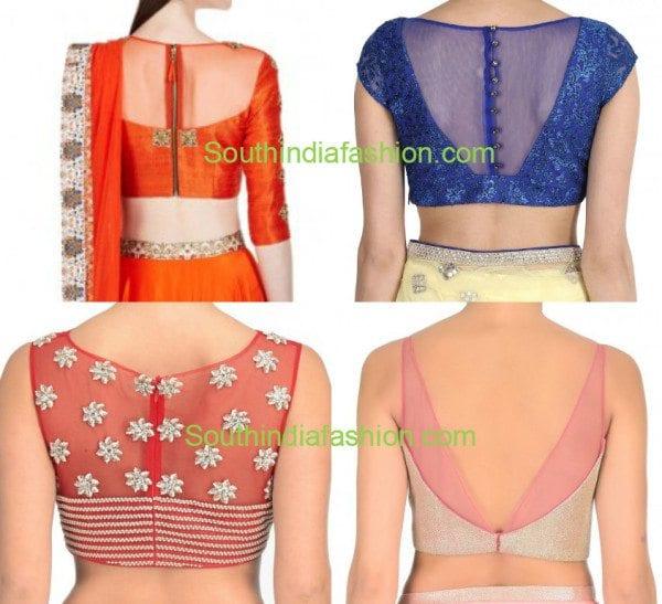 sheer_net_back_neck_blouse_designs