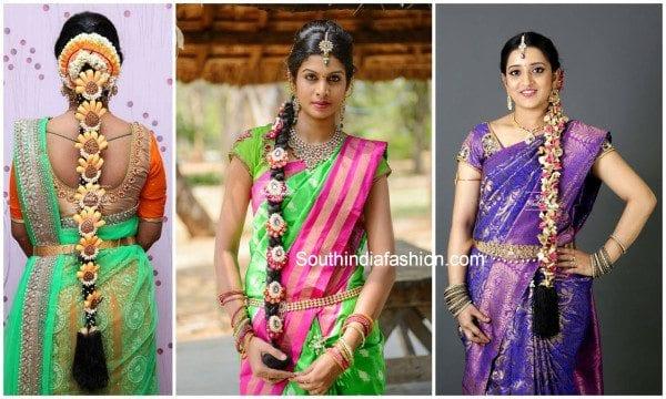 Swell Stunningly Gorgeous Patterns Of Bridal 39Poola Jada39 Hairstyles Short Hairstyles Gunalazisus