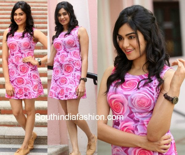Adah Sharma in a floral dress