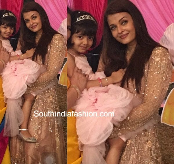 Aishwarya Rai in Manish Malhotra at Aradhya's birthday bash