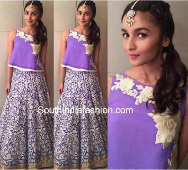 Alia Bhatt in Manish Malhotra at Masaba's sangeet
