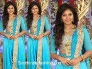 Anjali in a blue lehenga