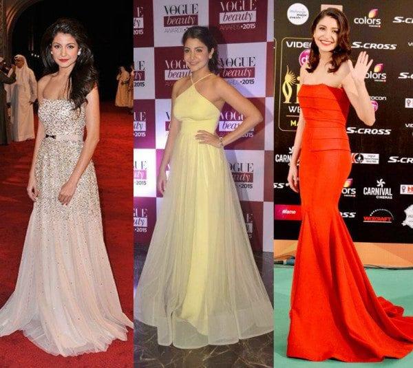 Anushka Sharma In Gowns