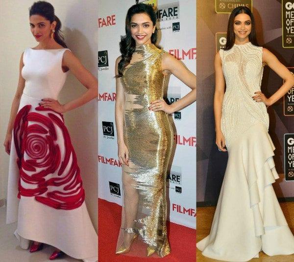 Deepika Padukone in Gowns