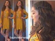 Deepika Padukone in a yellow dress at tamasha promotions