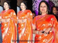 Jayasudha in a kanjeevaram at siddharth's reception