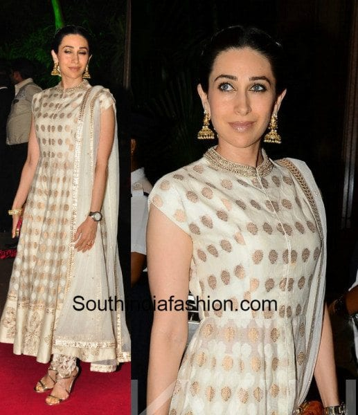 Karisma Kapoor in white anarkali 7