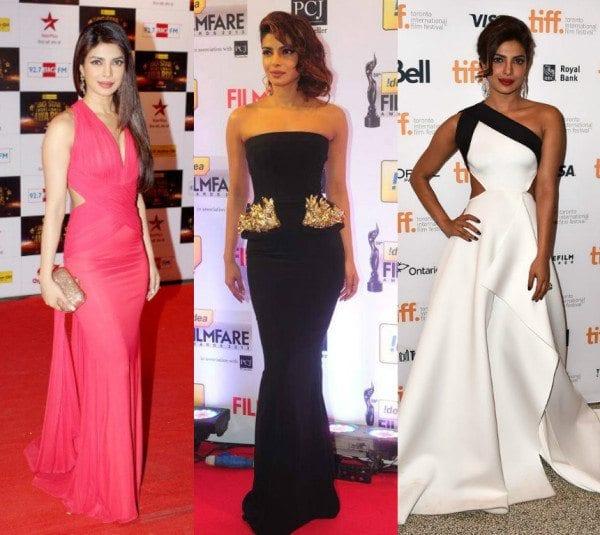 Priyanka Chopra in Gowns