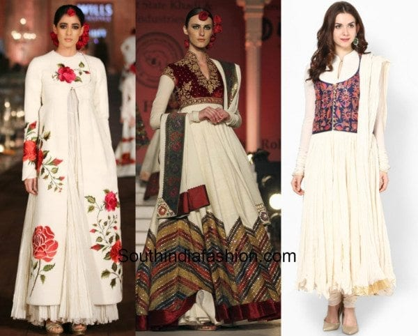 Rohit Bal Anarkalis with jackets