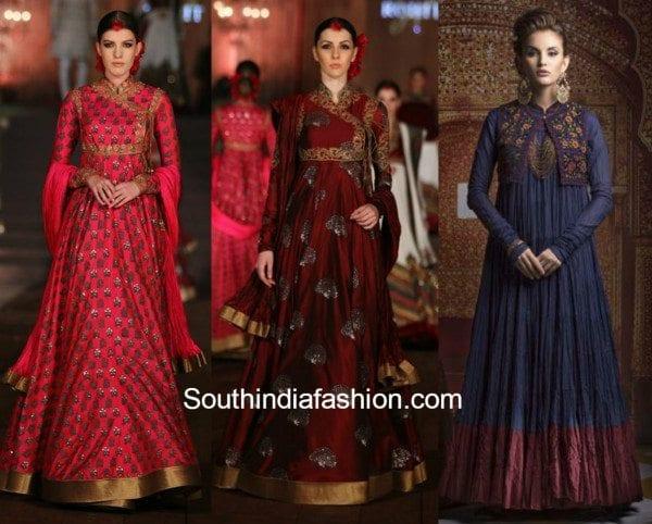 Rohit Bal Anarkalis colored