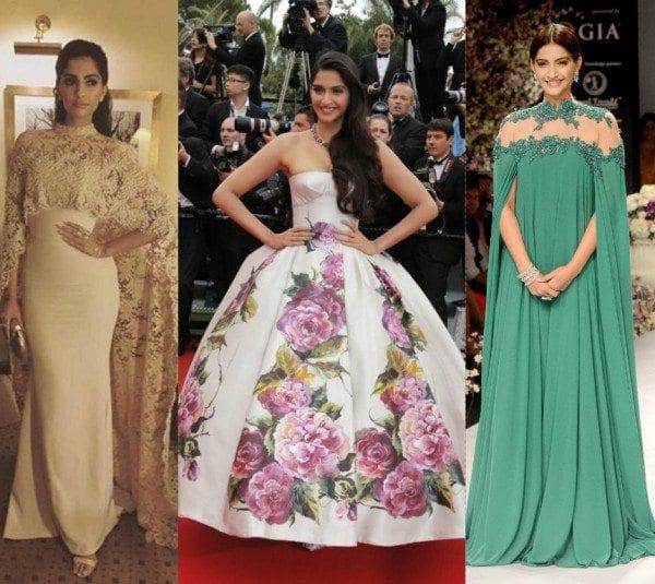 Sonam Kapoor in Gowns